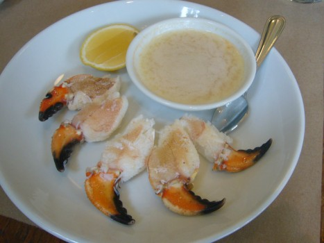 Empress Crab Claws with tabasco butter