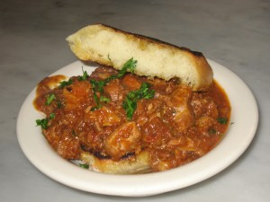 Pork Ragu on Garlic Toast