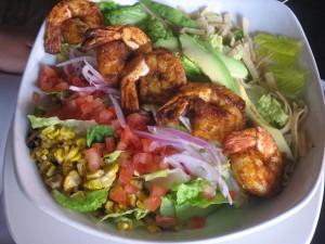 Vertigo Southwestern Grilled Shrimp Salad