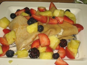 Classic Blintzes with fresh fruit