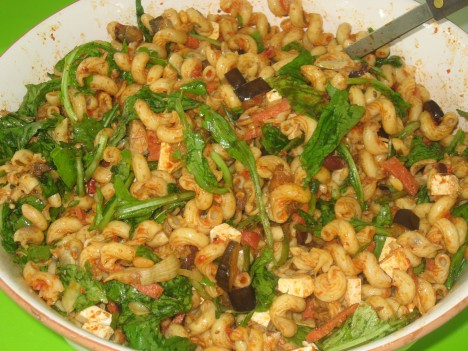 July Fourth Roasted Red Pepper Pasta Salad